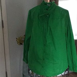 Beautiful Green 100% cotton Blouse sizeXL NWOT